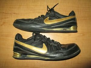 100% authentic 0fba7 32030 Details about Vintage Nike Shox Women's Size 10 Running Shoes Leather Black  Gold - Very Nice