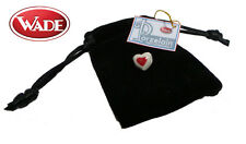 Wade Porzelain Whimsie Charms - Heart - Red  - hole diameter 5mm