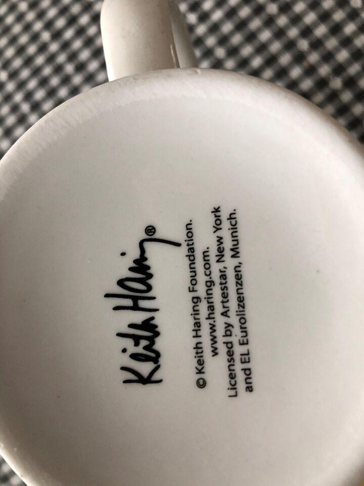 Porcelæn, Pop Kunst Krus, Keith Haring