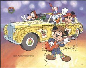 Redonda-1990-Disney-Christmas-Greeting-Cars-Mickey-Cartoons-1v-m-s-d00161a