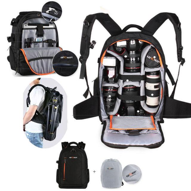 K&F Concept DSLR SLR Camera Backpack Bag Waterproof Padded Shockproof Rain Cover