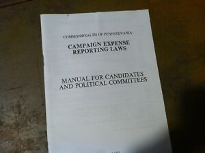 VINTAGE-HISTORICAL-PA-campaign-EXPENSE-REPORTING-LAWS-BOOK-1991-20-298