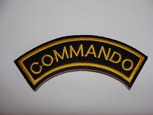 COMMANDO PATCH ECUSSON THERMOCOLLANT    MILITAIRE