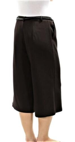 ECI Womens $79 Black Belted Cropped GAUCHOS CULLOTES Pants SZ L NWT