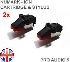 2 Turntable Cartridge & Stylus - Standard Half Inch Mount - Universal Fitment UK