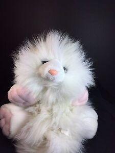 "Vintage GOOGLES Cat - White Persian Floppy - Large 15"" 23"" Ganz Heritage HTF"