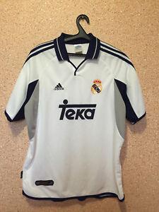 sale retailer 600ee 4ef71 Details about REAL MADRID SPAIN 2000/2001 HOME FOOTBALL SHIRT CAMISETA  TRIKOT ADIDAS