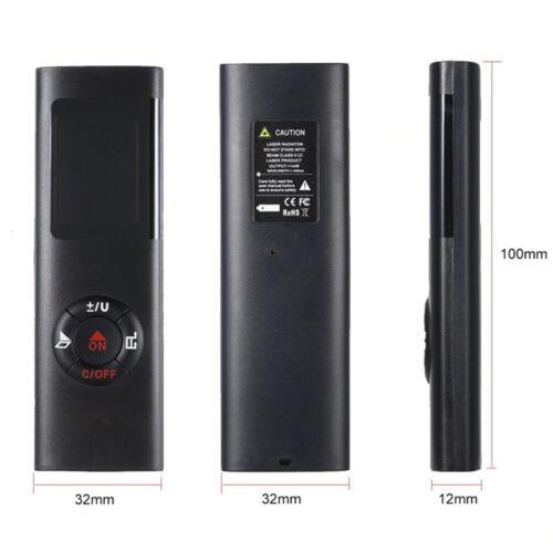 40M Portable Digital Mini Handheld  Laser Distance Meter Range Rangefinder Tip