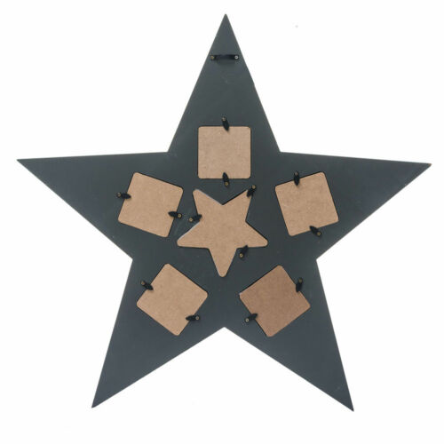 Picture Frame Star Grey Picture Holder Photo Frame Christmas Decoration Wall