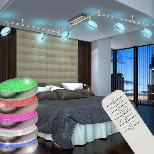 LED Wand Decken Kristall Lampen RGB Fernbedienung Wohnraum Dimmer Big Light