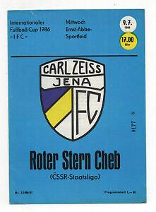 Orig.PRG   IFC Intertoto Cup  1986  ROT WEISS ERFURT SELTEN WITOSCHA SOFIA