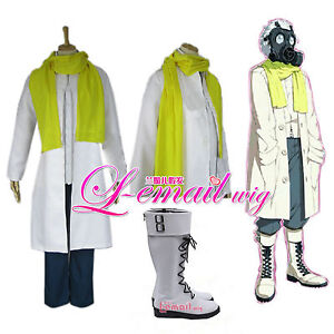 Dramatical Murder Clear DMMD Cosplay Costume and shoes Boots whole set
