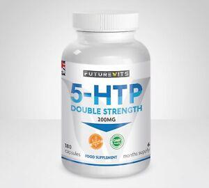 5-HTP-200mg-5HTP-180-Capsule-Bottiglia-5-HTP-naturale-serotonina-futurevits-Made-UK
