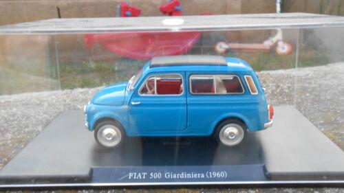 SCALA 1//24 AUTO VINTAGE  FIAT 500 GIARDINIERA 1960