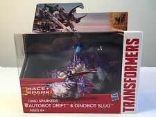 Autobot Drift & Dinobot Slug Dino Sparkers TRANSFORMERS Age of Extinction Race