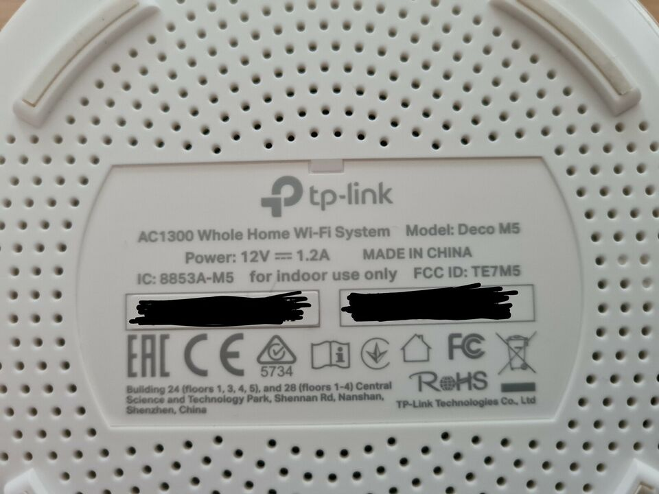 Router, wireless, TP-LINK DECO M5