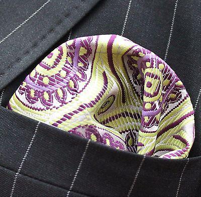 Hankie Pocket Square Cotton Handkerchief Chocolate Brown Leaves /& Flowers CH283