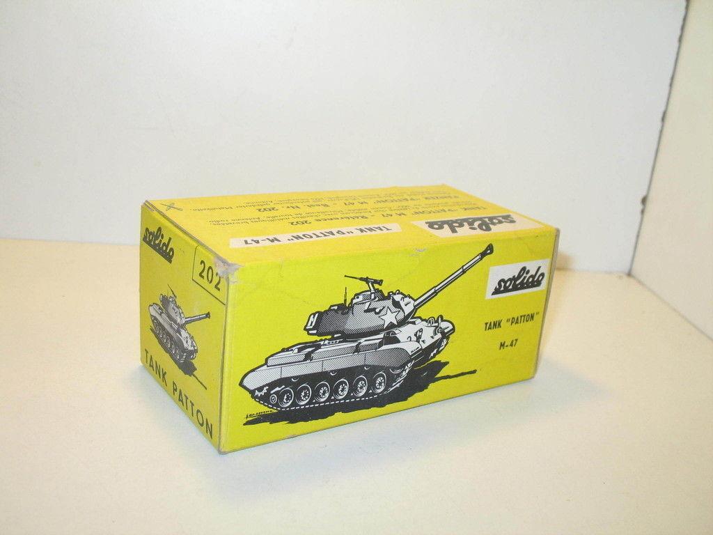 N03119, Schachtel Panzer M47 Patton (Khaki oder Sand) Militär REPRO Solido