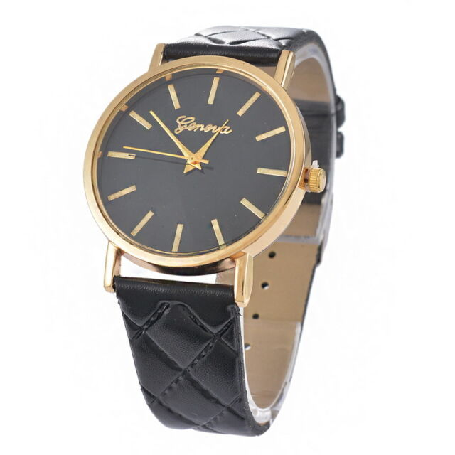 2016 New Fashion Women Lady Watch Leather Band Analog Quartz Wrist Watch