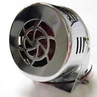 Chrome 50's Style 12v Mini Motor Driven Air Raid Siren Horn Car Truck Street Rod