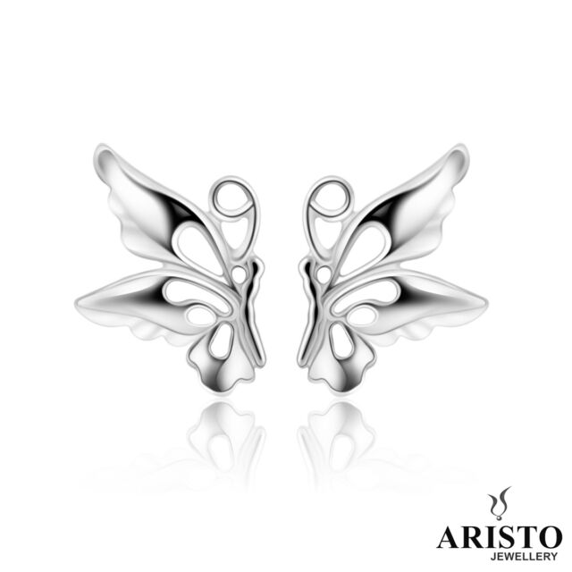 UK 925 Sterling Silver Butterfly Stud Earrings Jewellery Womens Ladies Gifts New