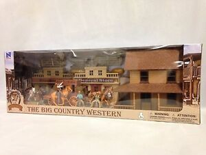 The-Big-Country-Western-Town-Deluxe-Playset-w-Gunfighters-Stage-Coach-Wagons