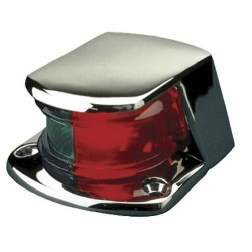 Boat Navigation Bow Front Nav Light Red/Green Chrome