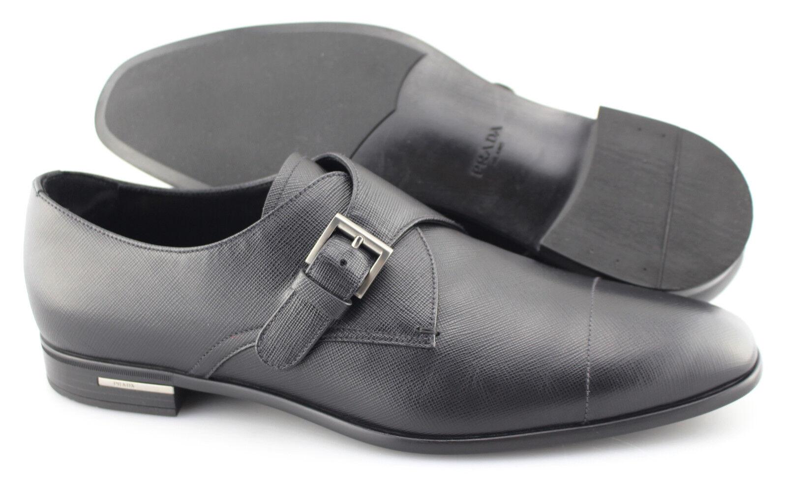 70fc44d0 Para hombres Cuero PRADA 'Saffiano' Monje Correa Mocasines EE. UU. 11 PRADA  Negro nsmnyn7494-Zapatos de vestir