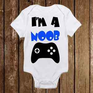 5ae83151f9e0 Geeky Baby Onesie I m a Noob- Baby Girl or Boy - Gamer - Nerd Baby ...