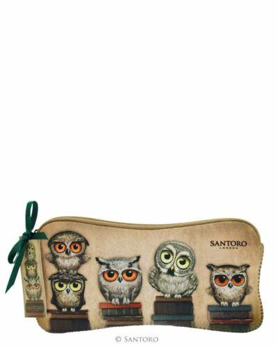 Accesoire Beutel Santoro Book Owls Schlampertasche Stifttasche