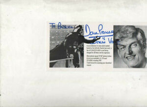 DAVE-PROWSE-hand-signed-8X3-CHARITY-PROMO-CARD-AFTAL-COA-dedicated