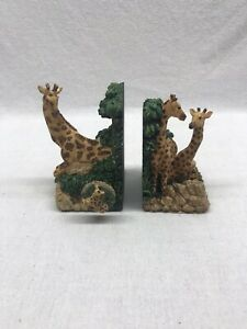 Classic-Treasures-Musical-Bookends-Giraffe-Vintage-With-Box