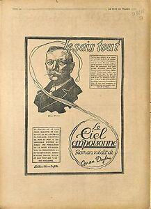 Reclame-le-Ciel-Empoisonne-Roman-sir-Arthur-Conan-Doyle-Sherlock-Holmes-1918-WWI