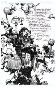 CHRIS BACHALO/NEIL GAIMAN (Sandman, Death) DR. STRANGE ORIGINAL ART AND POEM!