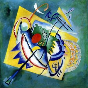 Details About Red Oval 1920 Sun Moon Boat Oars Abstract Painting By Wassily Kandinsky Repro
