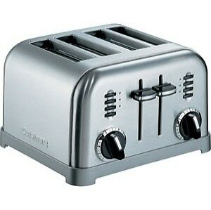Cuisinart Toaster 4-Slice Graphite//Metallic Stainless Steel Slide Out Crumb Tray