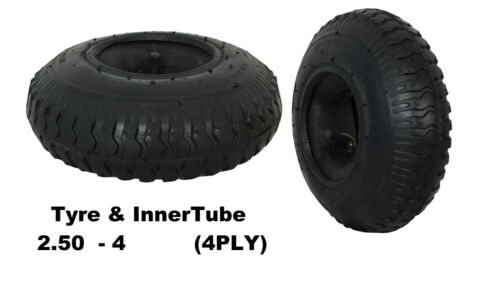 220 X 65 Neumático Con Tubo interior 2,50-4 Saco Camión Carro de la válvula dobladas 4 Capas