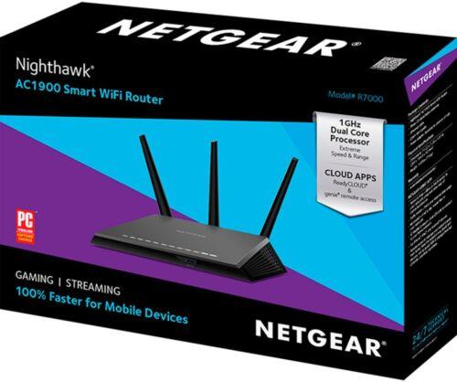 Black Nighthawk AC1900 Dual-Band Wi-Fi 5 Router NETGEAR