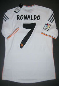 size 40 7054c afc51 Details about New 2013/2014 Adidas Authentic Real Madrid Cristiano Ronaldo  Jersey Shirt Home
