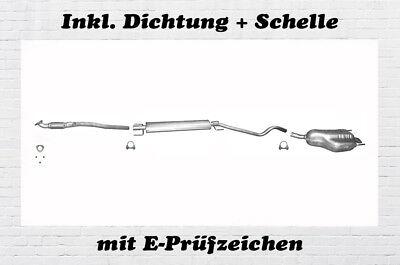 Auspuffanlage Opel Astra H Caravan 1.4 Kombi Auspuff Flexrohr Dichtung Schelle