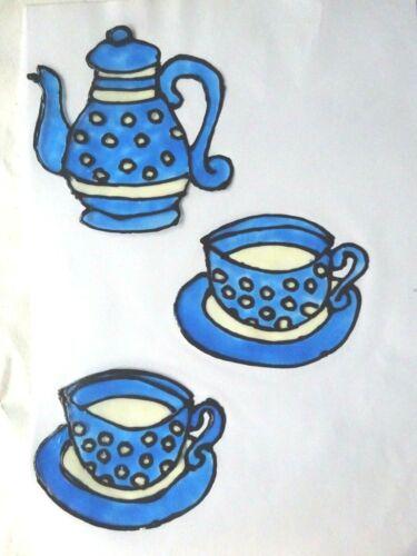 Ausverkauf Gabis Window Color Bilder Deko Küche Kanne Tasse Teller viele Farben