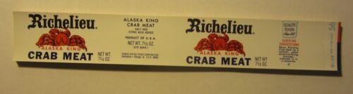 Can LABELS Wholesale Lot of 50 Old Vintage 1960/'s Richelieu Alaska CRAB MEAT