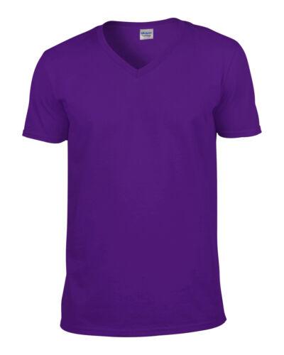 Mens t shirt Gildan Softstyle Adult V Neck T–Shirt s m l xl  2xl 100/% Cotton