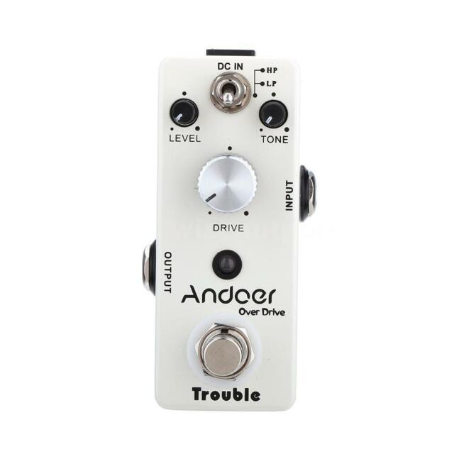 New Andoer TC-16 Overdrive Guitar Effect Pedal True Bypass High Quality