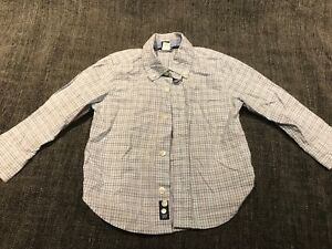 79e346d70 Baby Gap Boys 3T Red White And Blue Plaid Button Up Shirt | eBay