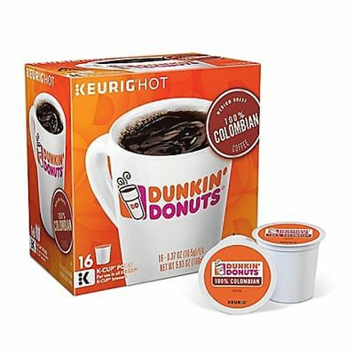 Dunkin' Donuts 100% Colombian Coffee 16 to 96 Count Keurig ...