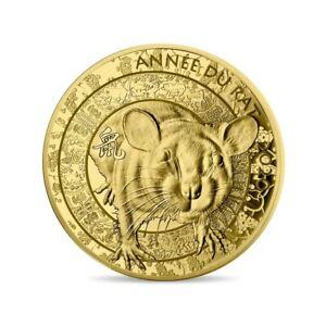 👍PIÈCE DE 50 EURO FRANCE OR BE PROOF 2020 Année du Rat