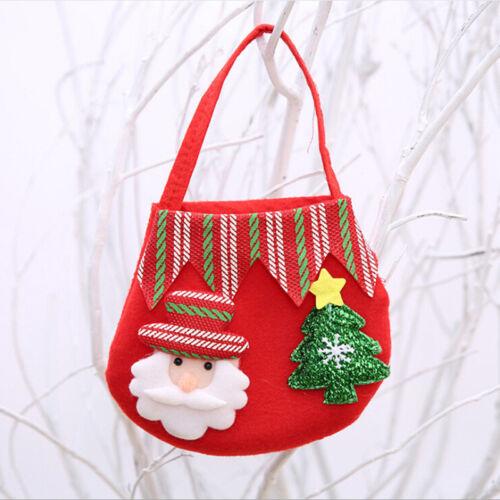 Various Shape Christmas Candy Bags Nice Xmas Gift Bags Decor Cartoon Style F