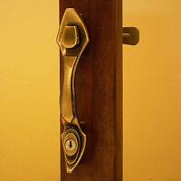 Storm Door Hardware- Handle Set Antique Brass Finish-1 Inch To 1-1/4 Inch Dooor