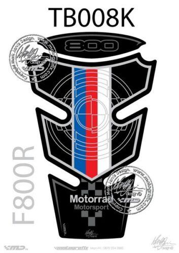 TB008K BMW F800R Tank Pad BLACK